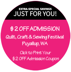 Quilt, Craft & Sewing Festival Admission Coupon