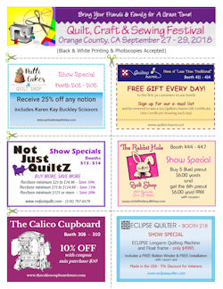 Quilt, Craft & Sewing Festival Vendor Coupons
